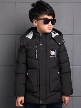 Ericdress Zipper Hooded Plain Boy's Down Coat