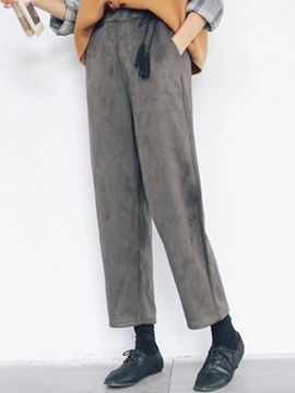 Ericdress Tassel Lace-Up Elastics Loose Casual Pants