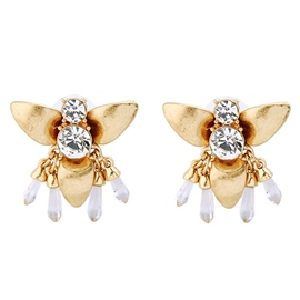 Ericdress Alloy Insect Diamante Stud Earrings