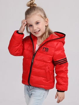 Ericdress Solid Color Girls Down Jackets