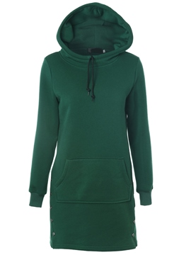 Ericdress Straight Lace-Up Plain Hoodie