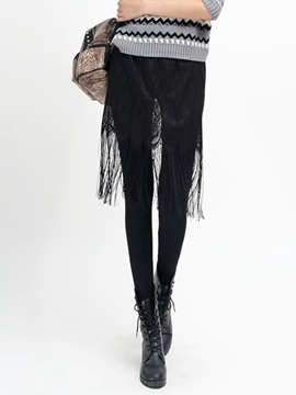 Ericdress Tassel Hollow Lace Leggings Pants