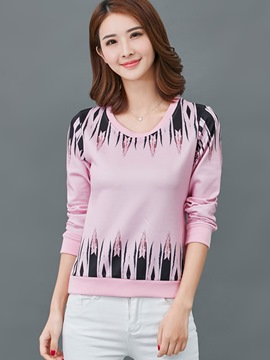 Ericdress Printed Long Sleeve T-Shirt