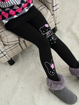 Ericdress Pint Warm Thick Girls Leggings