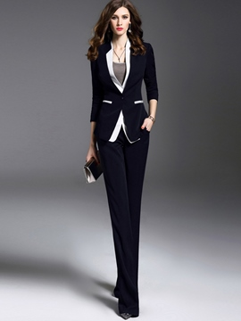 Ericdress Color Block Blazer Formal Suit