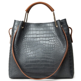 Ericdress Korean Croco-Embossed Handbag