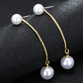 Ericdress Elegant Long Beads Design Earrings
