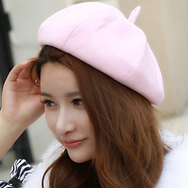 Ericdress Simple Pure Color Beret Hat