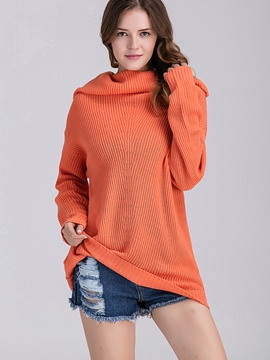 Ericdress Orange Heap Collar Knitwear
