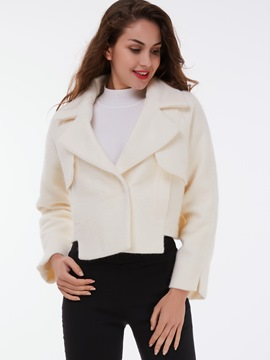 Ericdress Polo Solid Color Loose Coat