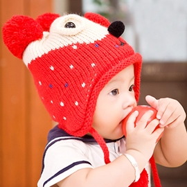 Ericdress Cartoon Bear Earcuff Warm Kid's Hat