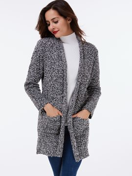 Ericdress Plain Straight Cardigan Knitwear