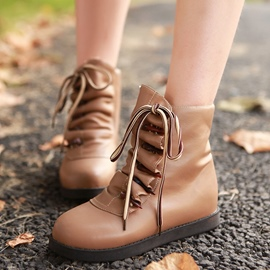 Ericdress Chic Lace up Ankle Boots
