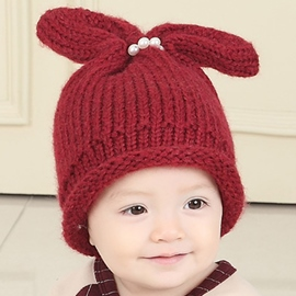 Ericdress Rabbit Ear Design Knitted Hat for Kid