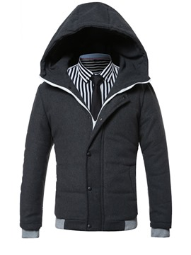 Ericdress Hood Zip Thicken Warm Winter Style Men's Coat