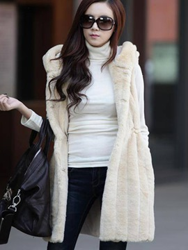 Ericdress Solid Color Fleece Hooded Jacket