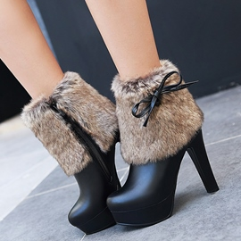 Ericdress Charming Fur Platform High Heel Boots