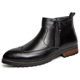 Ericdress Brush Off Point Toe Side Zip Men's Boots