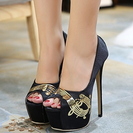 Ericdress Sequins Decorated Peep Toe Stiletto Sandals