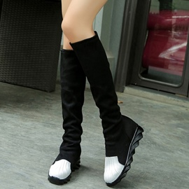Ericdress Patchwork Flat Knee High Boots