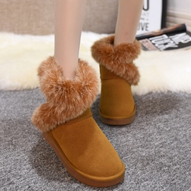 Ericdress Suede Solid Color Snow Boots with The Fur