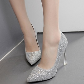 Ericdress Chic Sequins Point Toe Pumps