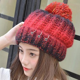 Ericdress Three Ring Design Color Block Woolen Yarn Hat