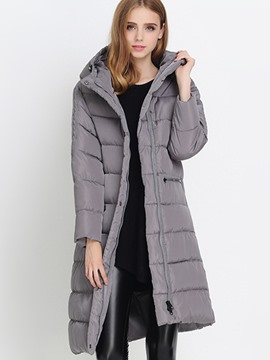 Ericdress European Loose Hooded Coat