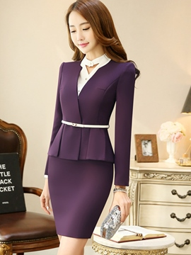 Ericdress SImple V-Neck Blazer Formal Suit
