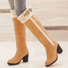 Ericdress Chunky Heel Knee High Boots