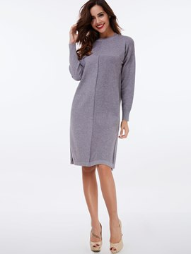 Ericdress Stylelines Patchwork Knee-Length Casual Dress