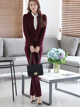Ericdress OL Solid Color Two-Piece Formal Suit