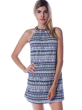 Ericdress Bohemian Halter Above Knee Casual Dress