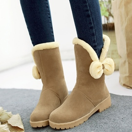 Ericdress Lovely Girl Bowtie Mid-calf Snow Boots