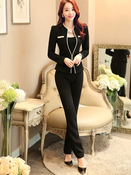 Ericdress Graceful Color Block Two-Piece Formal Suit