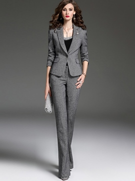 Ericdress One Button Slim Blazer Suit