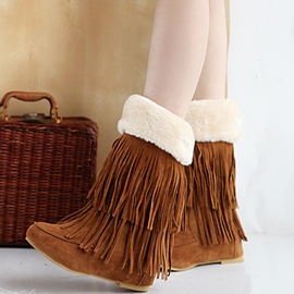 Ericdress Pretty Tassels Decorated Ankle Boots
