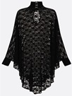 Ericdress Turtleneck See-Through Batwing Sleeve Lace Dress
