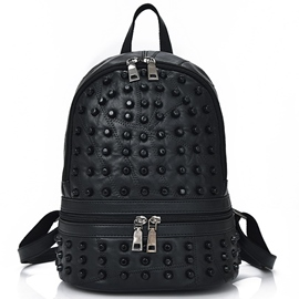 Ericdress Patchwork Lambskin Backpack
