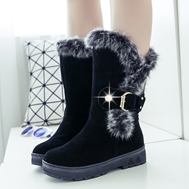 Ericdress Cozy Furry Snow Boots