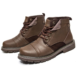 Ericdress Cool Round Toe Lace up Men's Martin Boots