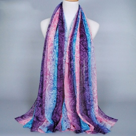 Ericdress Voile Gradient Color Printed Women's Scarf
