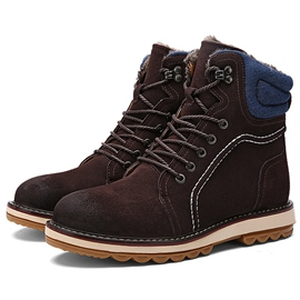 Ericdress Cool Suede Lace up Men's Martin Boots