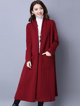 Ericdress Casual Solid Color Loose Trench Coat