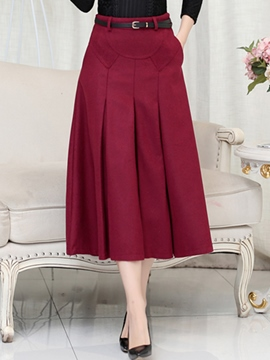 Ericdress Ladylike Pleated Usual Skirt