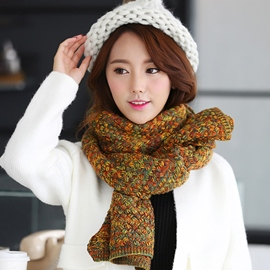 Ericdress Pineapple Flowers Knitted Scarf