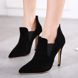 Ericdress Classic Suede Point Toe High Heel Boots