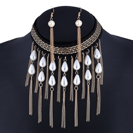 Ericdress Pearl Tassel Alloy Jewelry Set