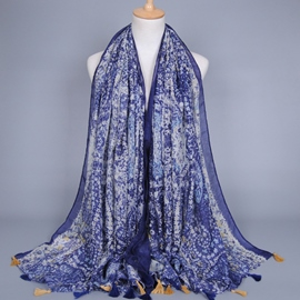 Ericdress Geometric Pattern Printed Voile Scarf