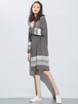 Ericdress Crochet Long Cardigan Knitwear